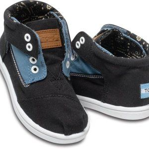 Toms Paseo Blue Black Mid Sneakers